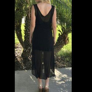 Olivaceous Dresses - Sold Olivaceous Wrap Silk High Low Dress